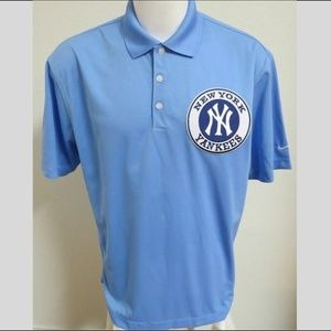 Sz L Blue Nike Dri-FIT  Men db Polyester #591 Polo
